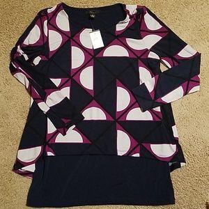 NWT Women's Medium Alfani Long Sleeve Top